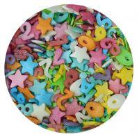 Scrumptious Sprinkletti CAROUSEL edible confetti & cupcake sprinkles 100g