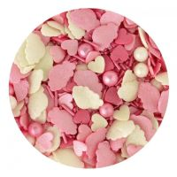 Scrumptious Sprinkletti CANDY FLOSS MIX edible confetti & cupcake sprinkles 100g