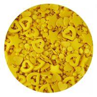 Scrumptious Sprinkletti GOLD MIX edible confetti & cupcake sprinkles 100g