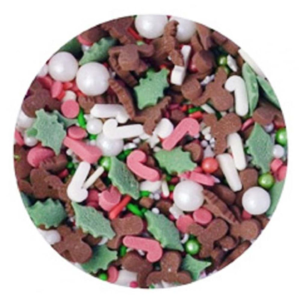 Scrumptious Sprinkletti JINGLETTI XMAS MIX edible confetti & cupcake sprink