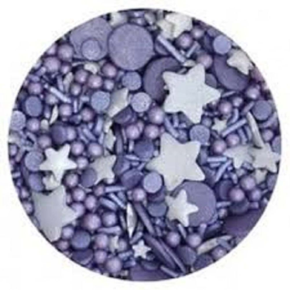Scrumptious Sprinkletti MIDNIGHT VIOLET edible confetti & cupcake sprinkles