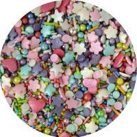 Scrumptious Sprinkletti ENCHANTED MIX edible confetti & cupcake sprinkles 100g