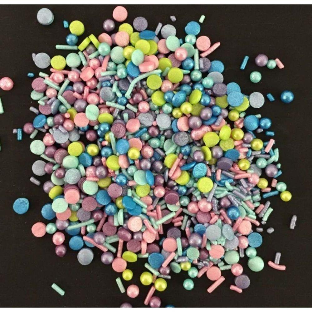 Scrumptious Sprinkletti PARTY MIX edible confetti & cupcake sprinkles 100g