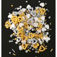 Scrumptious Sprinkletti CHARM MIX edible confetti & cupcake sprinkles 100g
