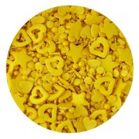 Scrumptious Sprinkletti **CLEARANCE** GOLD MIX edible confetti & cupcake sprinkles 100g