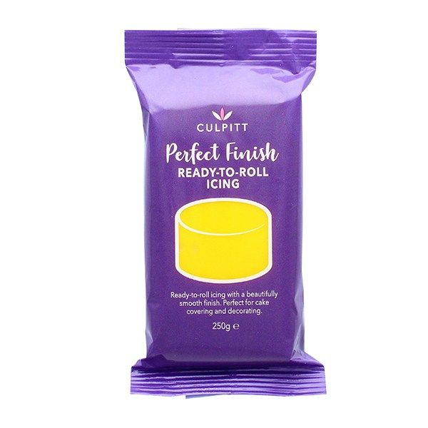 CULPITT: EDIBLE SUGAR PASTE-YELLOW-250g