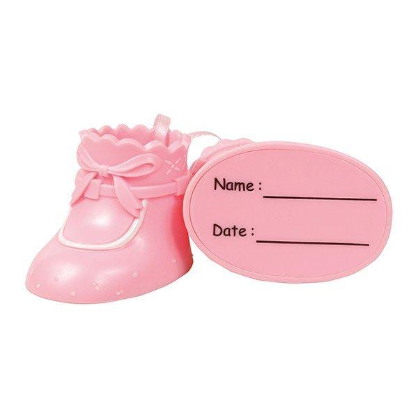 CULPITT: FIGURINE-CST-BABY SHOES-PLASTIC-PINK-RP