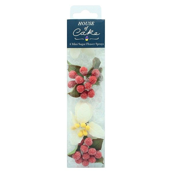 CULPITT: SUGAR SPRAY-HoC-POINSETTIA-WHITE-4PCE-RP