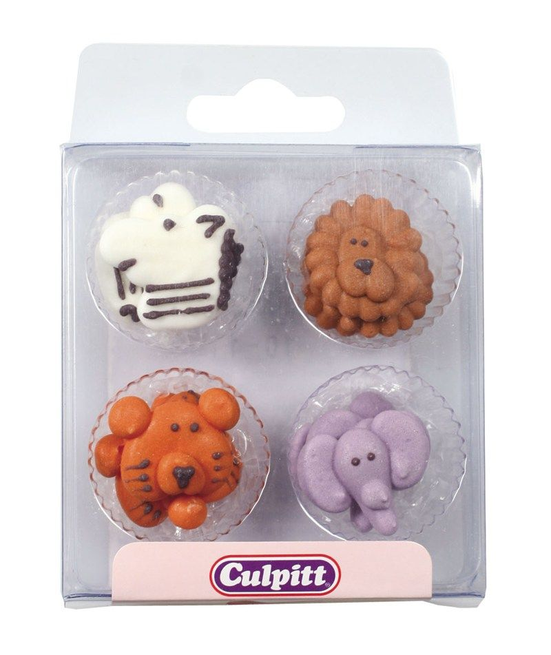 CULPITT: SUGARDEC-PIPING-ANIMAL FACE-12PC-RP-25mm