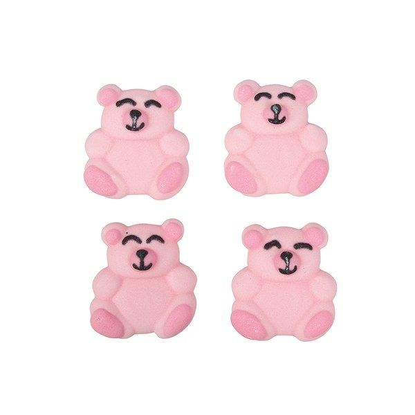 CULPITT: SUGARDEC-PIPING-BEAR-PINK-12PCE-RP-25mm