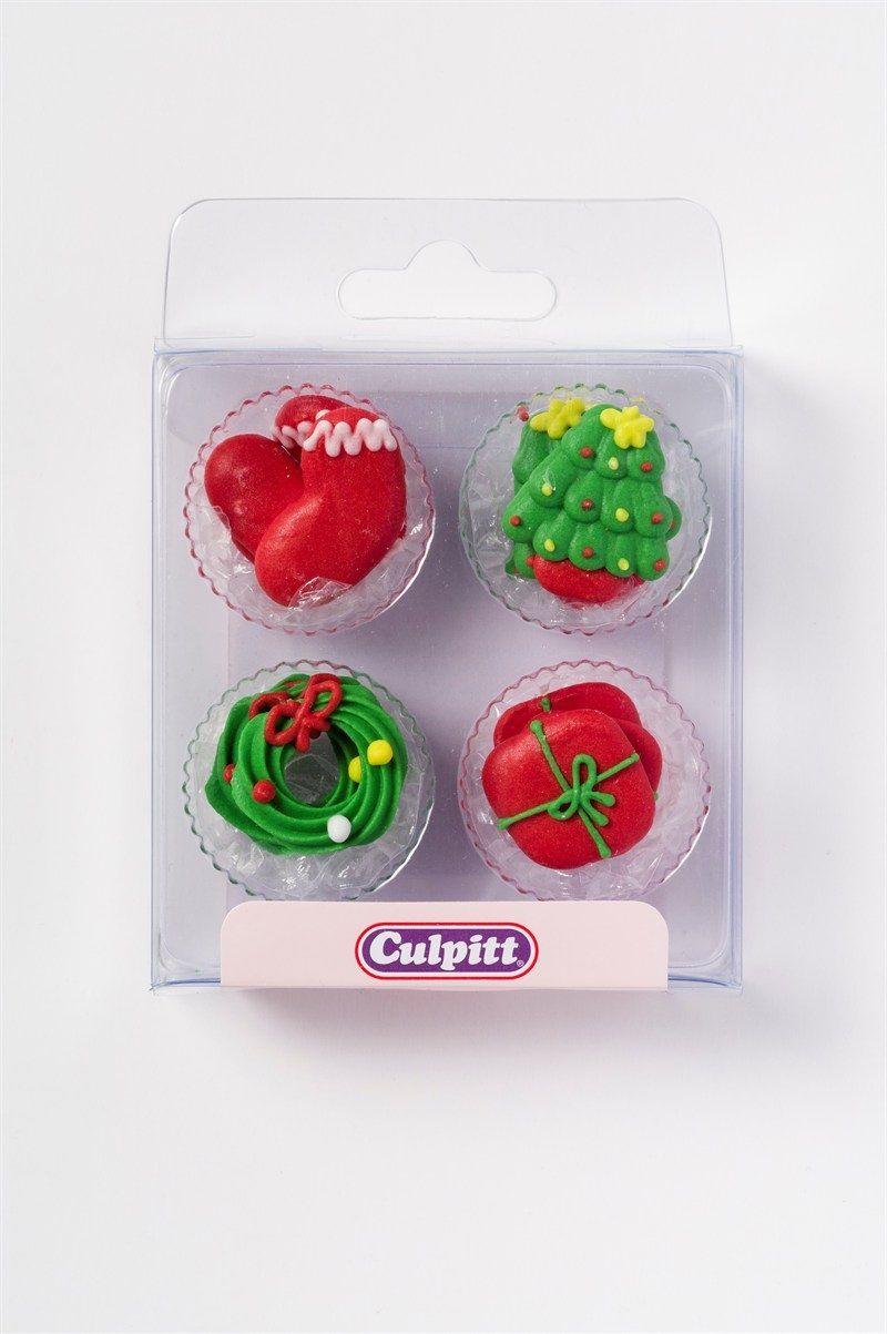 CULPITT: SUGARDEC-PIPING-CHRISTMAS-12PCE-RP-25mm