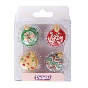 CULPITT Christmas Bauble Sugar Pipings 12 Piece - Single. 6373