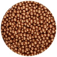 25001  Purple Cupcakes 4mm Shimmer Pearls - Bronze - 80g