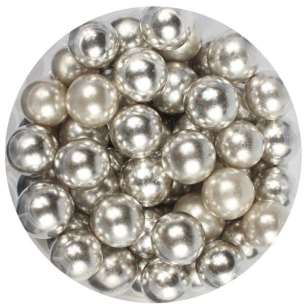 Purple Cupcakes 10mm Pearls - Silver - 100g