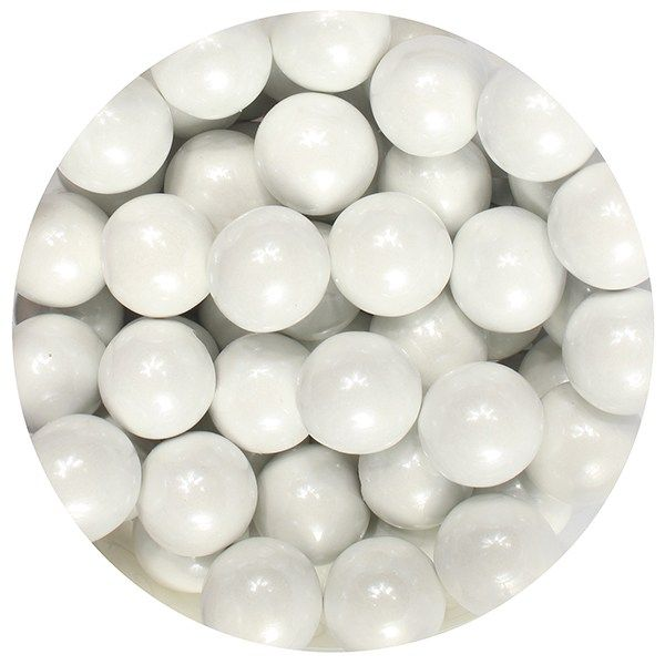 Purple Cupcakes 10mm Pearls - White - 80g