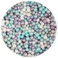 25005  Purple Cupcakes 4mm Shimmer Pearls - Frozen - 80g