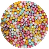 25006  Purple Cupcakes 4mm Shimmer Pearls - Multi - 80g