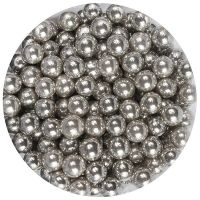 25019  Purple Cupcakes 6mm Pearls - Silver - 100g