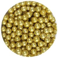25022  Purple Cupcakes 6mm Pearls - Gold - 100g