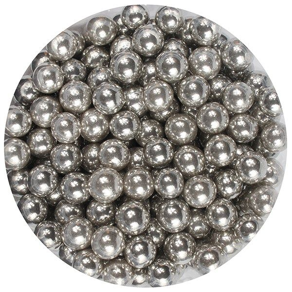Purple Cupcakes Silver Pearls 6mm 1kg