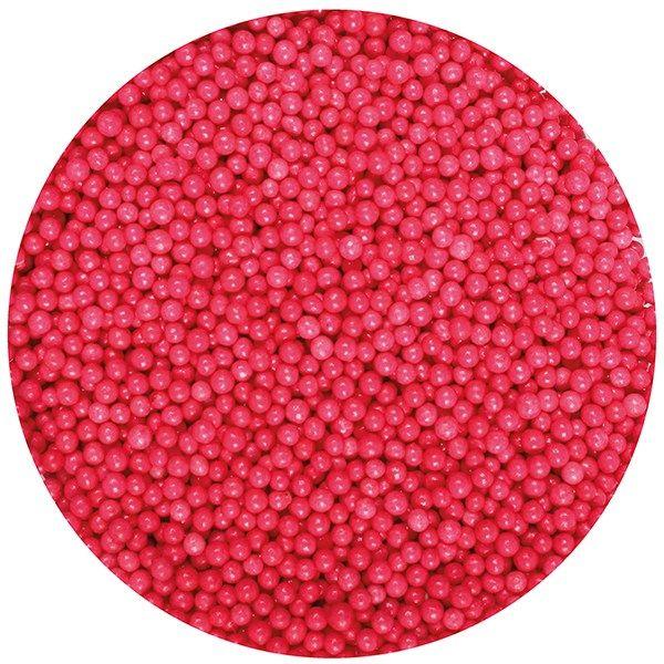 25014  Purple Cupcakes Nonpareils - Red - 100g