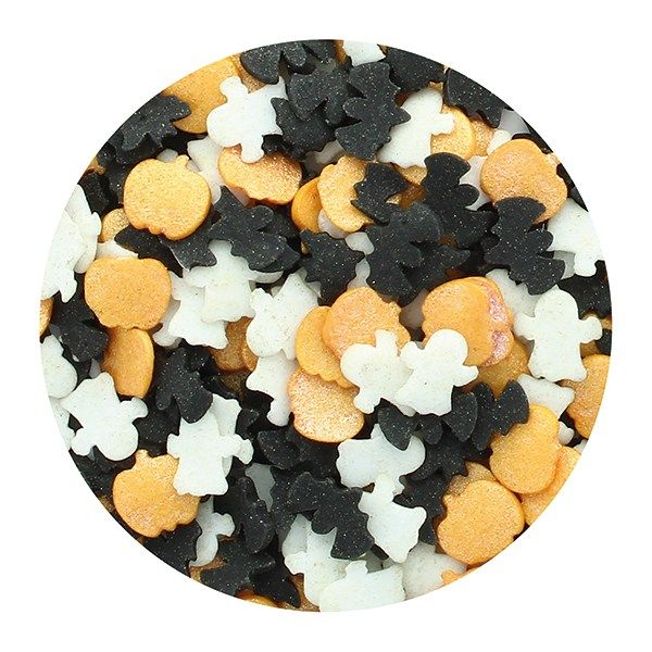 Purple Cupcakes - Pumpkin, Bat & Ghost Sprinkle Mix 60g