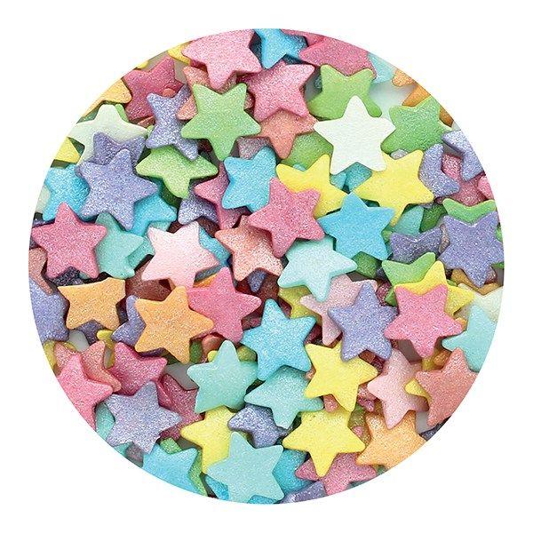 Purple Cupcakes - Jumbo Multi Stars - 50g