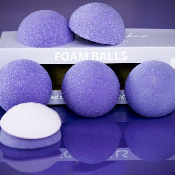 Purple Cupcakes Foam Balls - Pack of 6