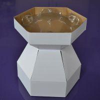 25069  Purple Cupcakes Cupcake Bouquet Box - Snowdrop White