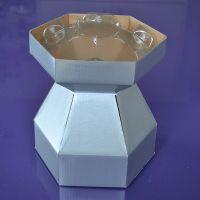 25071  Purple Cupcakes Cupcake Bouquet Box - Silver