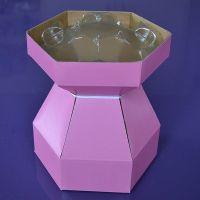 25073  Purple Cupcakes Cupcake Bouquet Box - Pink