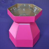 25074  Purple Cupcakes Cupcake Bouquet Box - Cerise