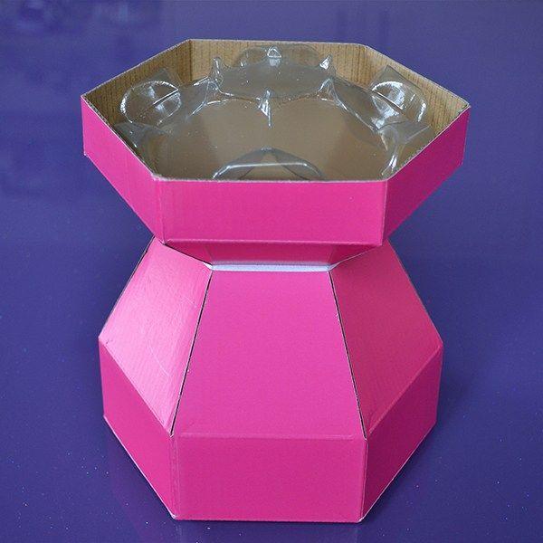 Purple Cupcakes Cupcake Bouquet Box - Cerise