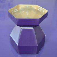 25075  Purple Cupcakes Cupcake Bouquet Box - Purple