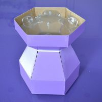 25076  Purple Cupcakes Cupcake Bouquet Box - Lilac