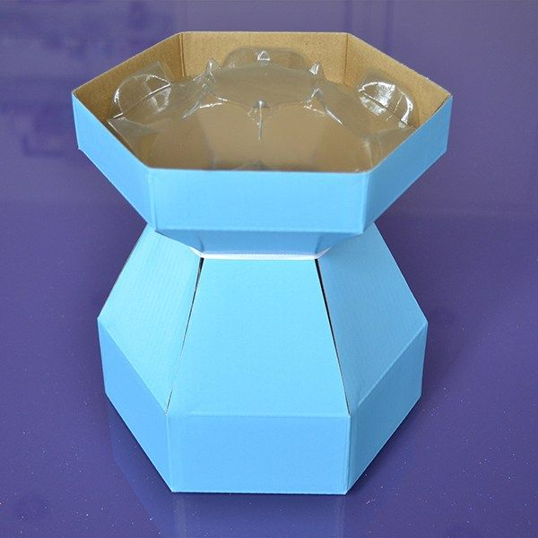 Purple Cupcakes Cupcake Bouquet Box - Iceberg Blue