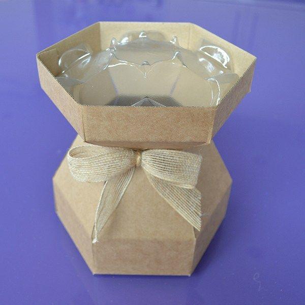 Purple Cupcakes Cupcake Bouquet Box - Kraft