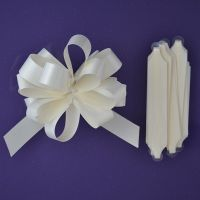 Purple Cupcakes Quick Pull Bow - Ivory. 25083