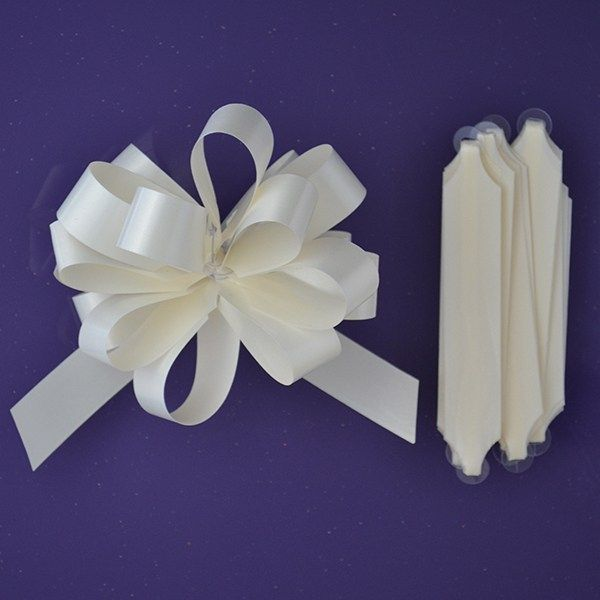 Purple Cupcakes Quick Pull Bow - Ivory