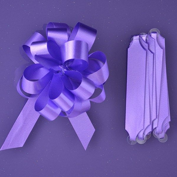 Purple Cupcakes Quick Pull Bow - Purple