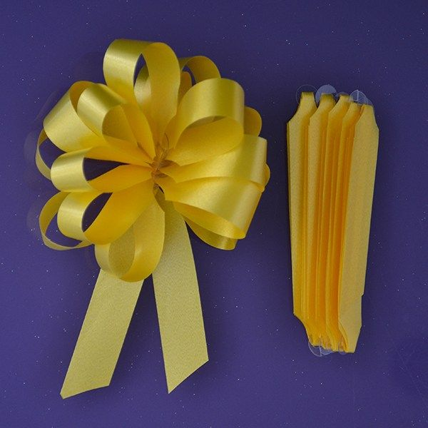 Purple Cupcakes Quick Pull Bow - Yellow