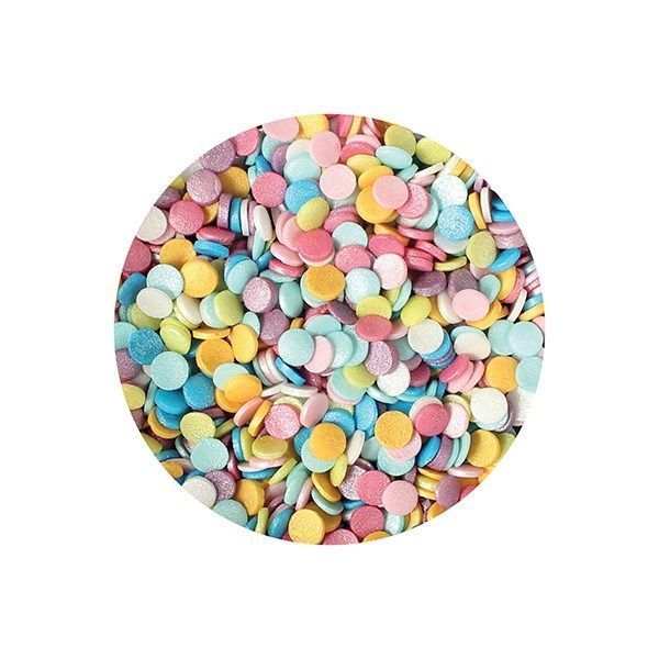 Purple Cupcakes Rainbow Shimmer Confetti - 1kg