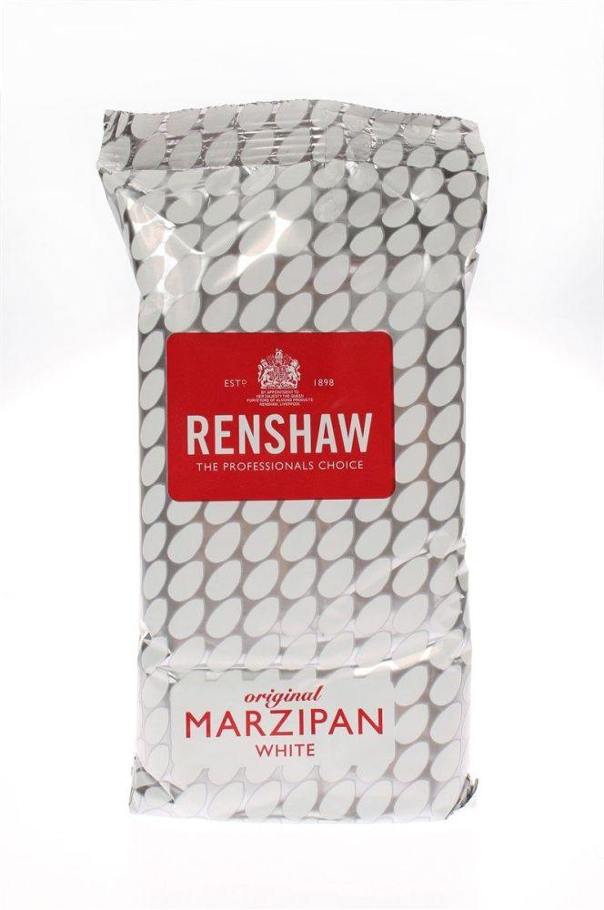 Renshaw - Marzipan - White Rencol - 1kg - Single. 0601290A