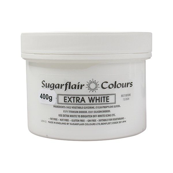 COLOUR-SUGARFLAIR-EXTRA WHITE 400g