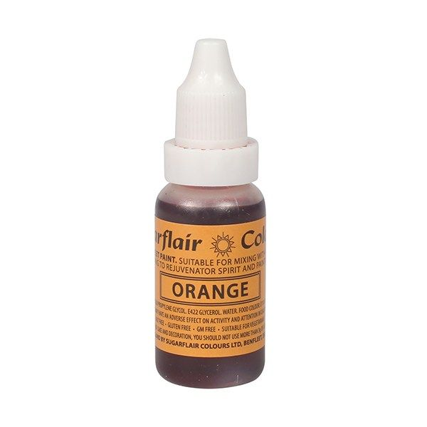 SUGARFLAIR: COLOUR-SUGAR TINT LIQUID-ORANGE-14ml