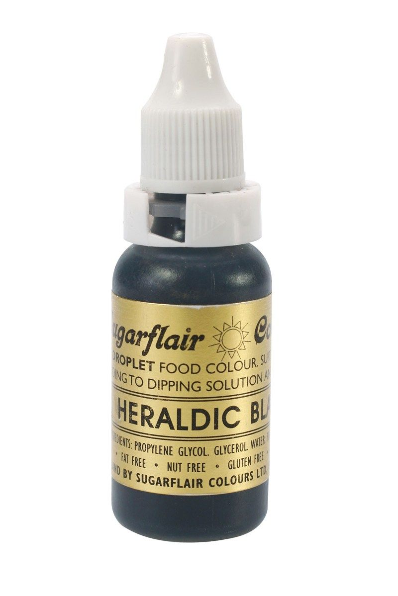 SUGARFLAIR: COLOUR-SUGAR TINT LIQUID-BLACK-14ml