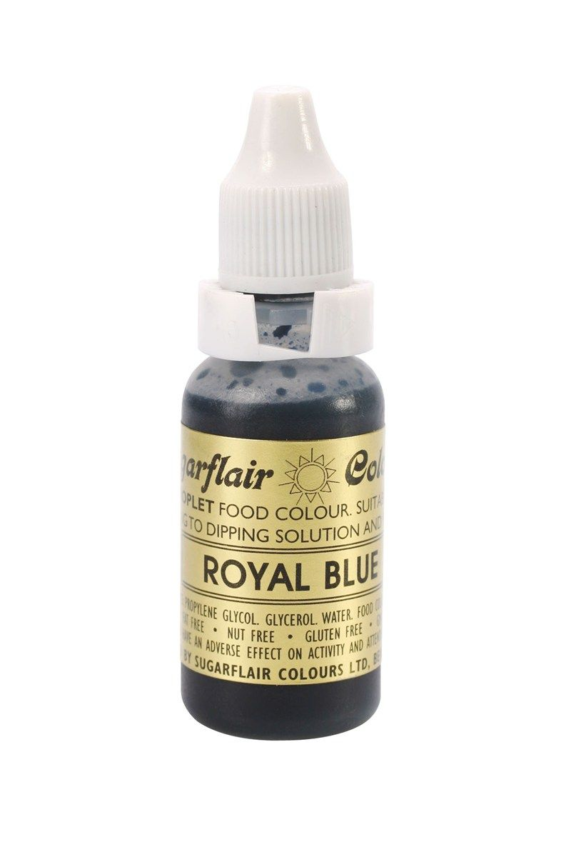 SUGARFLAIR: COLOUR-SUGAR TINT LIQUID-ROYAL BLUE-14ml