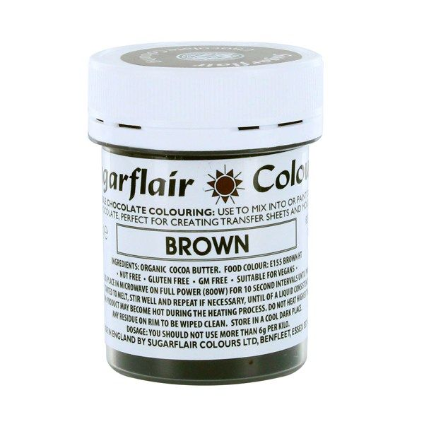 COLOUR-SUGARFLAIR-CHOC-BROWN-35g