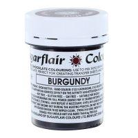 53783  COLOUR-SUGARFLAIR-CHOC-BURGUNDY-35g