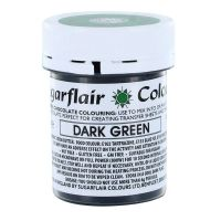 53785  COLOUR-SUGARFLAIR-CHOC-DARK GREEN-35g